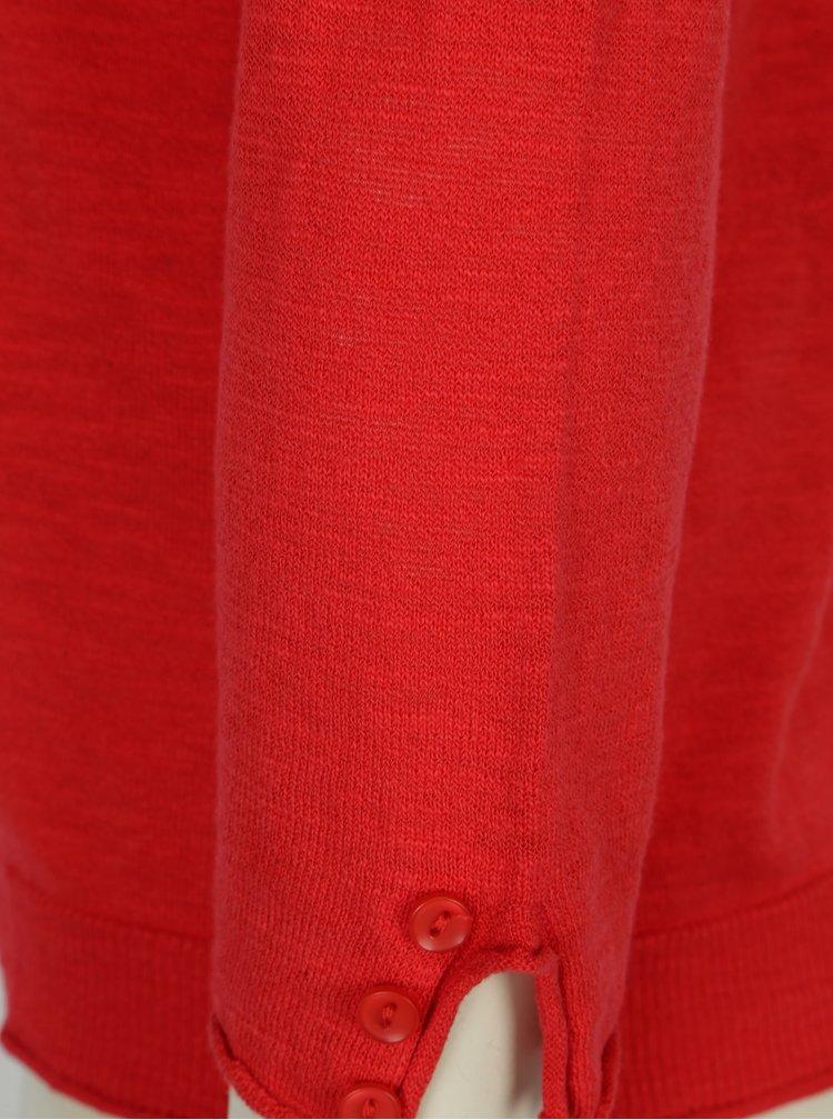 Červený kardigan s knoflíky Yest