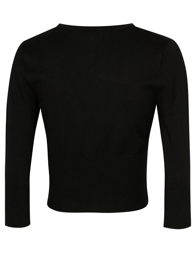 Černý krátký kardigan Yest