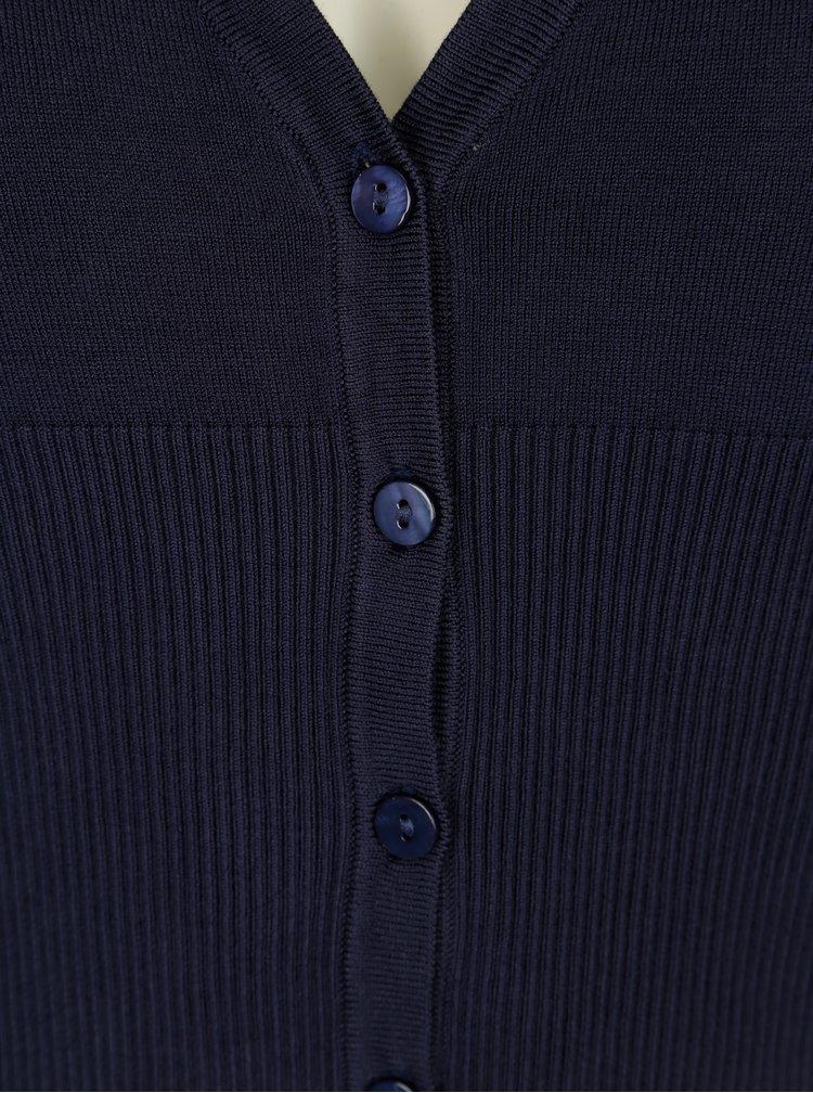 Tmavě modrý krátký kardigan Yest