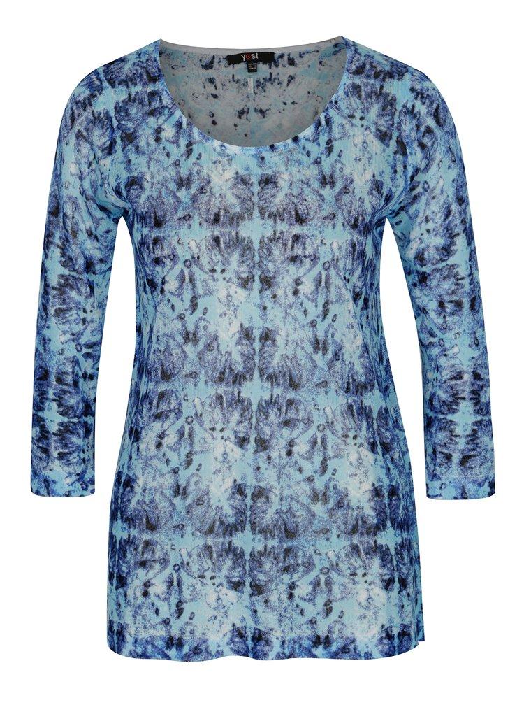 Modrý lehký vzorovaný svetr Yest