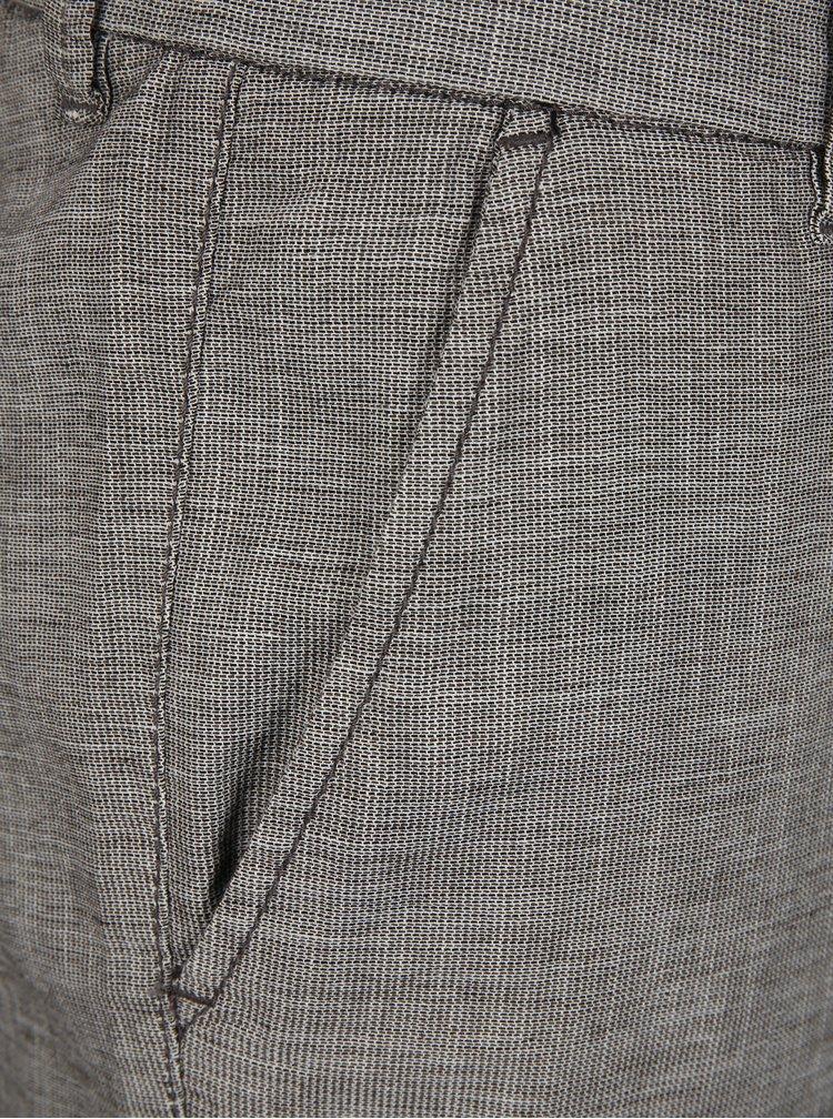 Sivé melírované kraťasy Selected Homme Arval