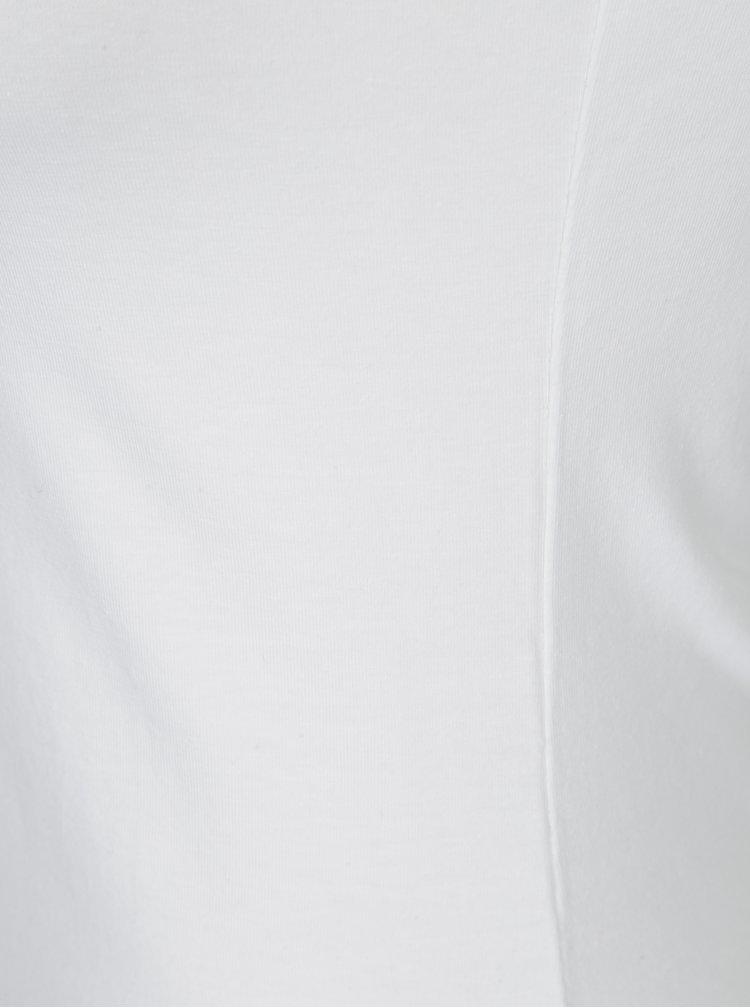Bílé dlouhé basic tílko Yest