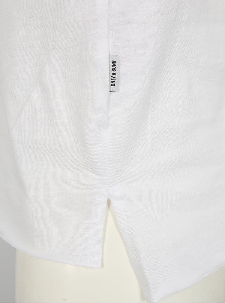 Bílé basic tričko ONLY & SONS Stewie