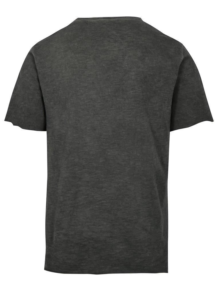 Šedé žíhané tričko ONLY & SONS Stewie
