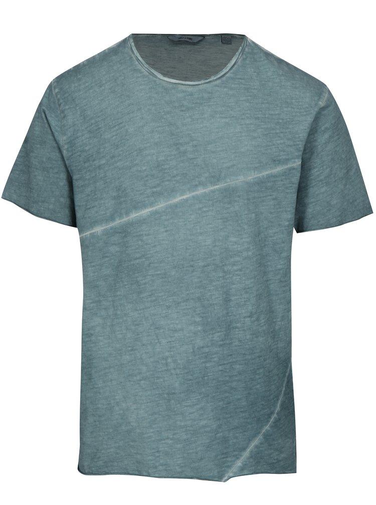Modré žíhané tričko ONLY & SONS Stewie