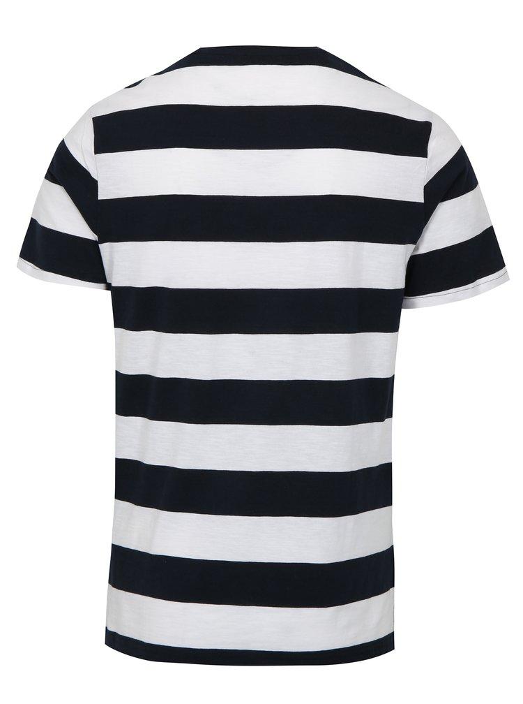 Bílo-modré pruhované tričko ONLY & SONS Dontell