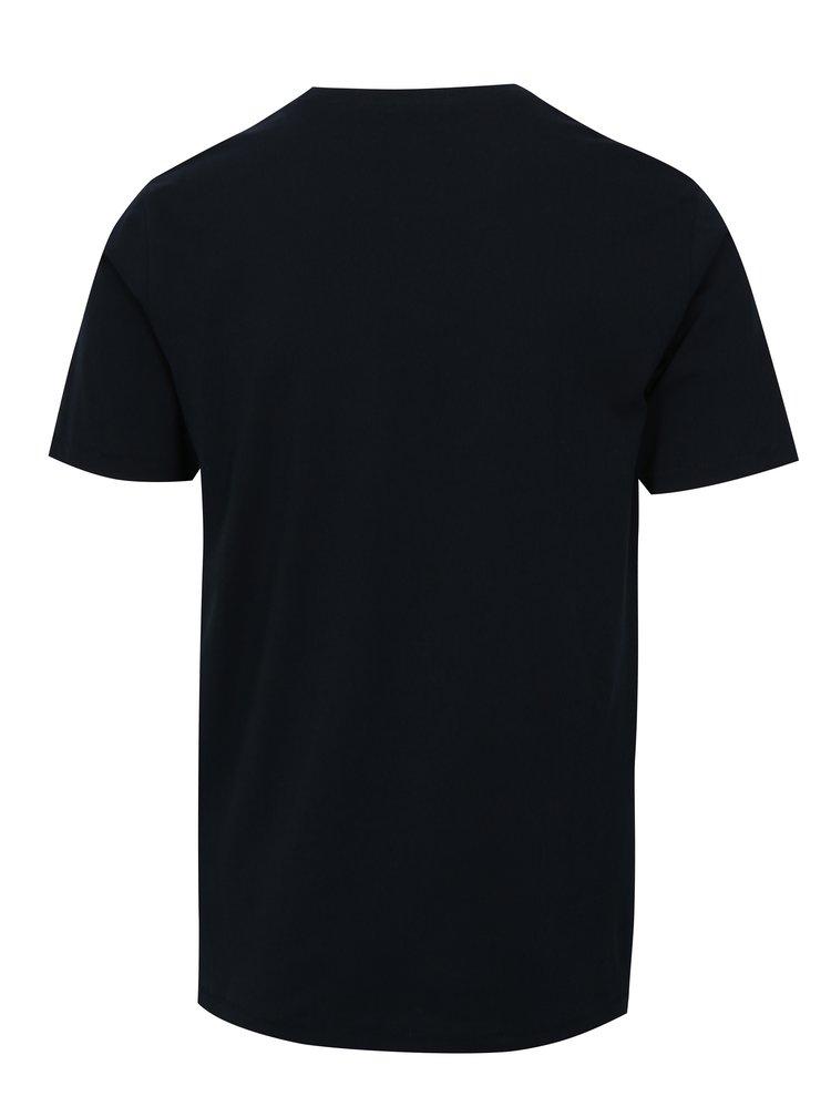 Tmavě modré tričko s potiskem ONLY & SONS Skylar