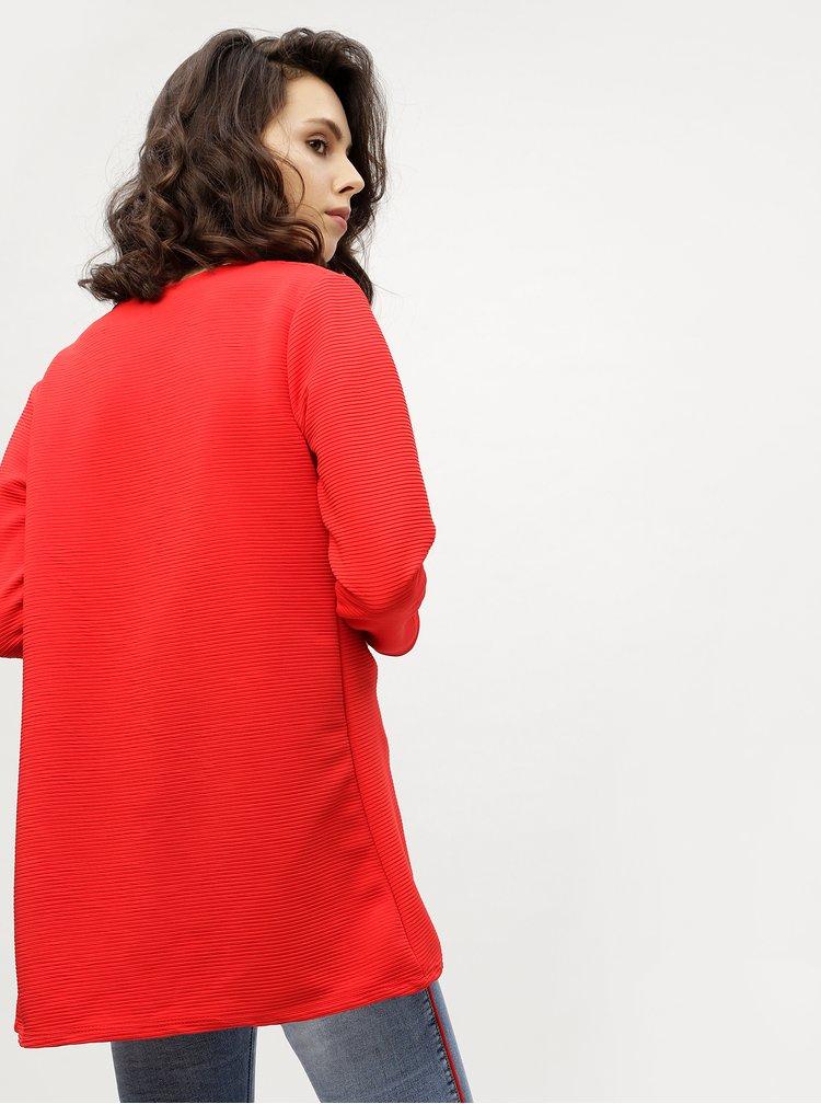 Červený žebrovaný kardigan Haily´s Sandy