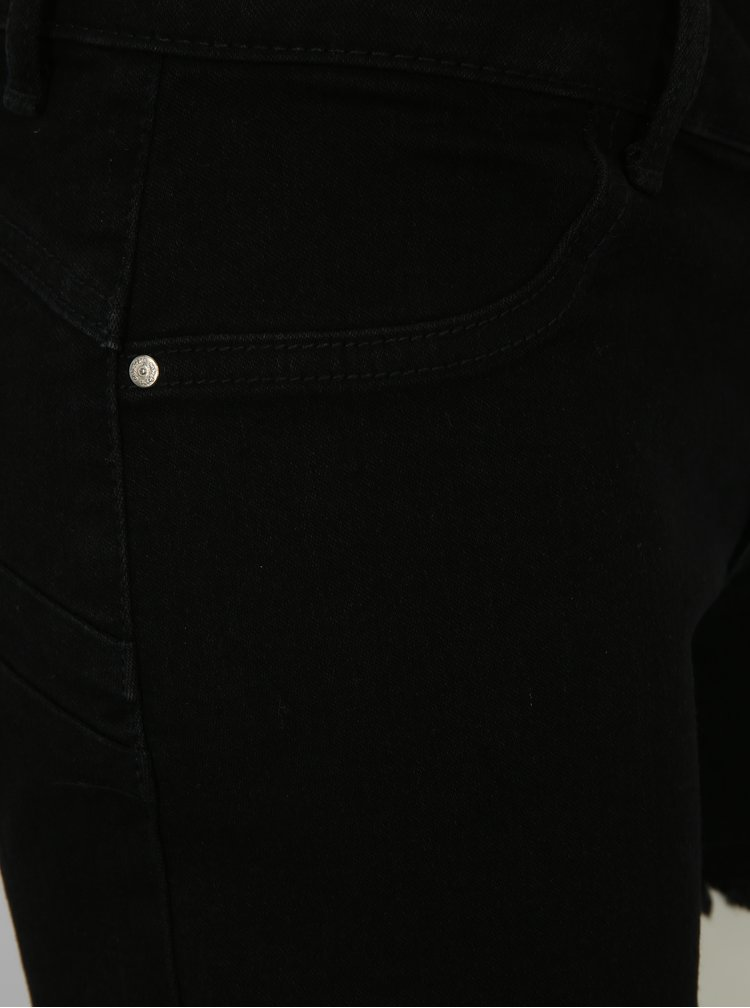 Černé džínové kraťasy s nízkým pasem ONLY Dylan