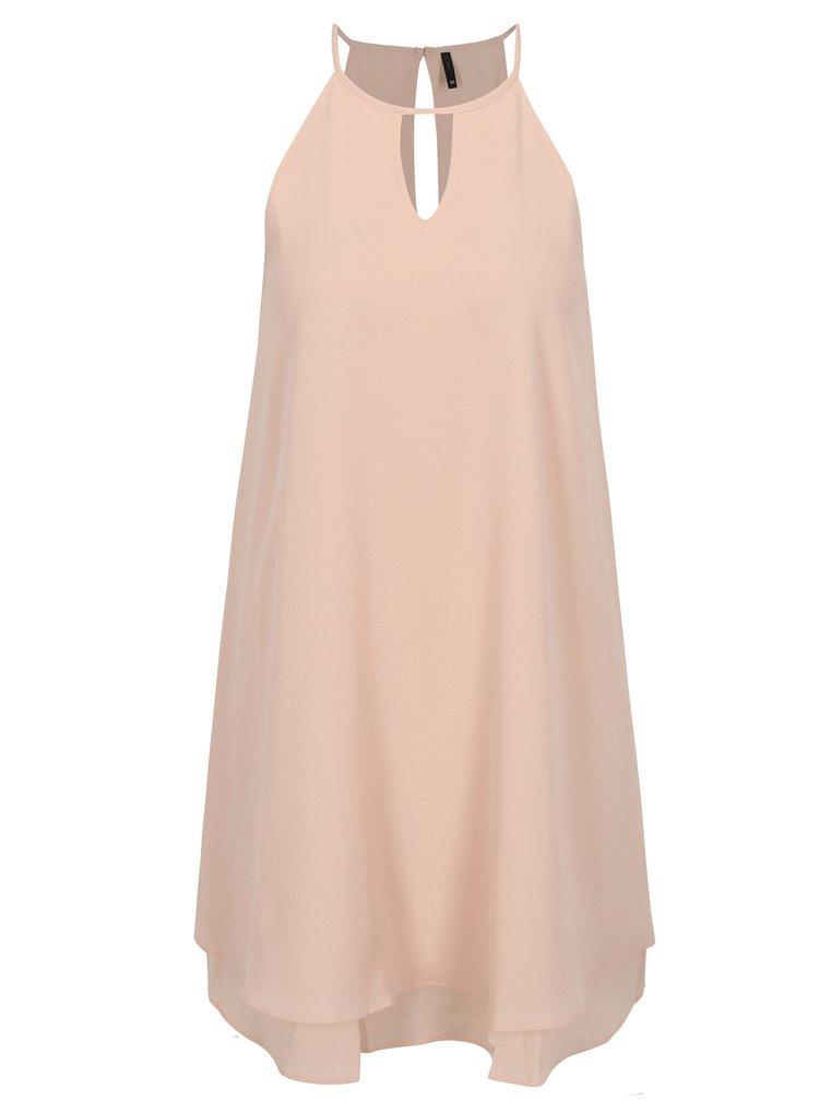 Světle růžové šaty na ramínka ONLY Mariana