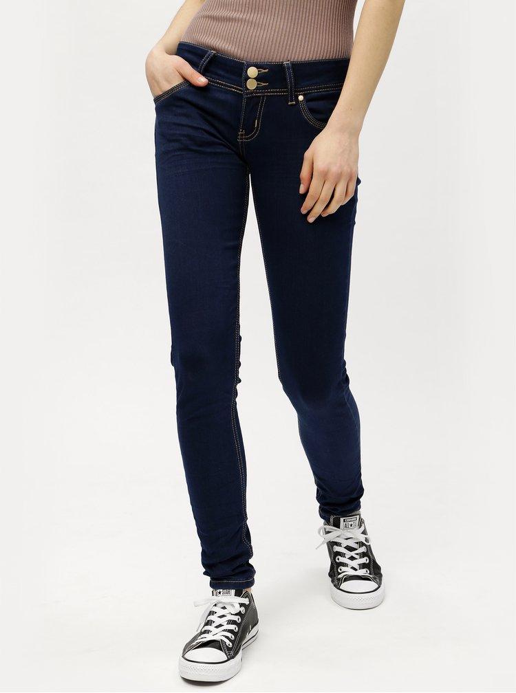 Tmavě modré skinny džíny s nízkým pasem Haily´s Kitty