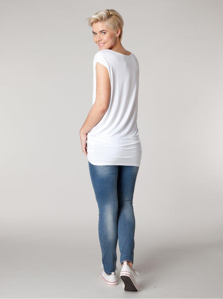 Bílé volné tričko Yest