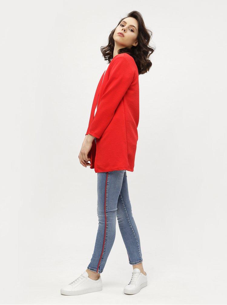 Modré zkrácené skinny džíny s vyšisovaným efektem Haily´s Liara