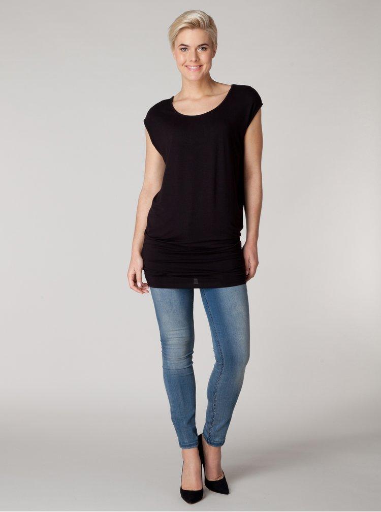 Černé volné tričko Yest