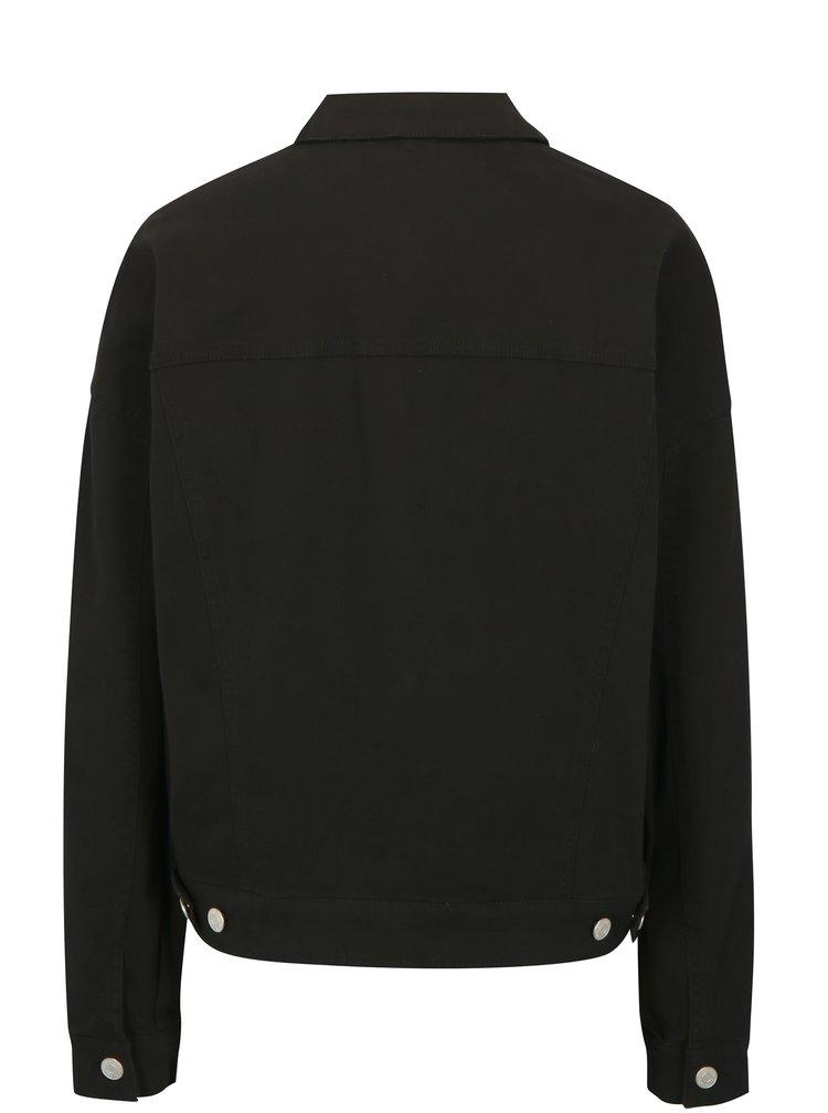 Černá džínová bunda Jacqueline de Yong Cate Loose