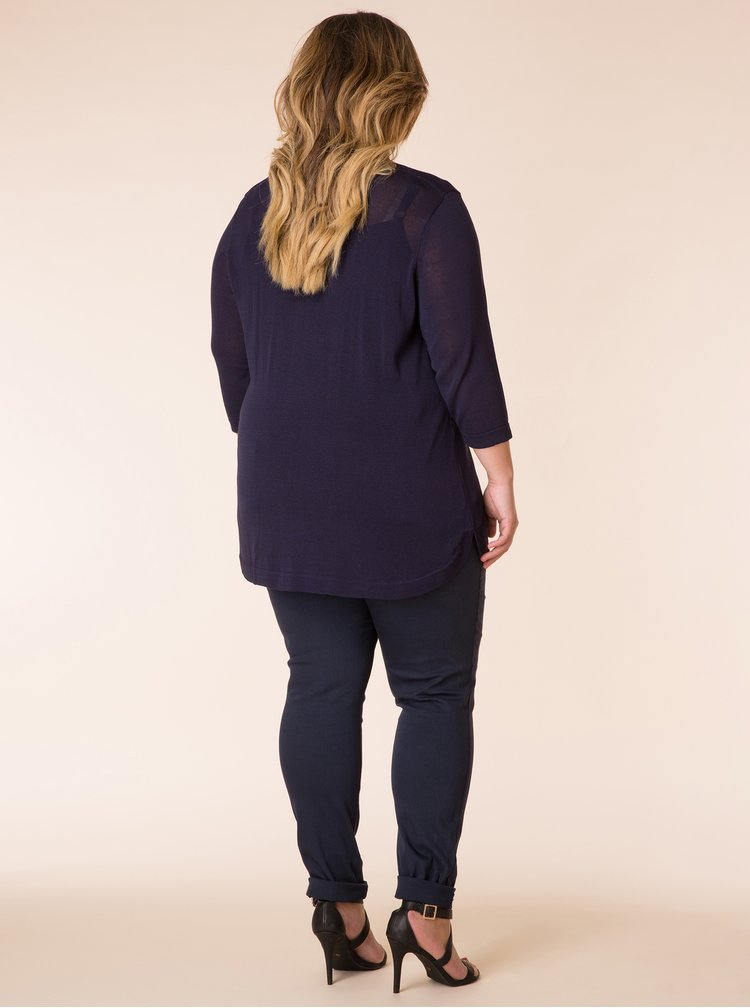 Tmavě modrý lehký svetr Yest