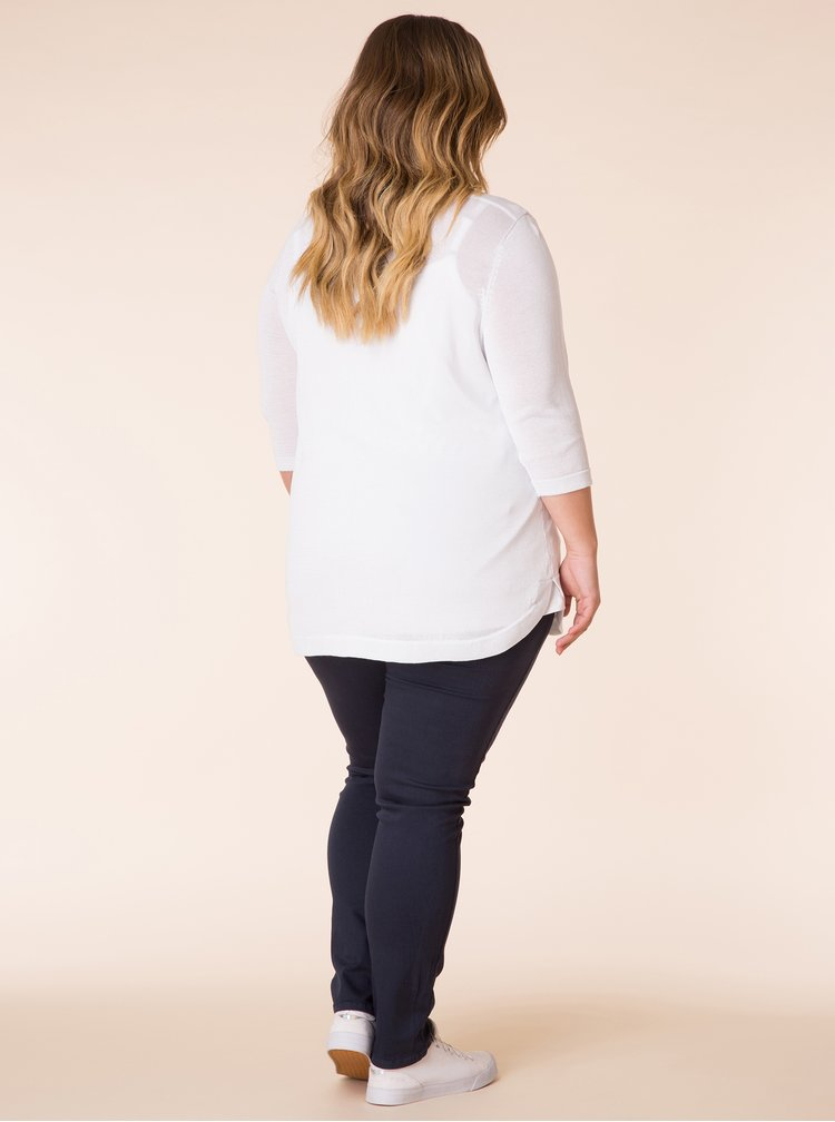 Bílý lehký svetr Yest