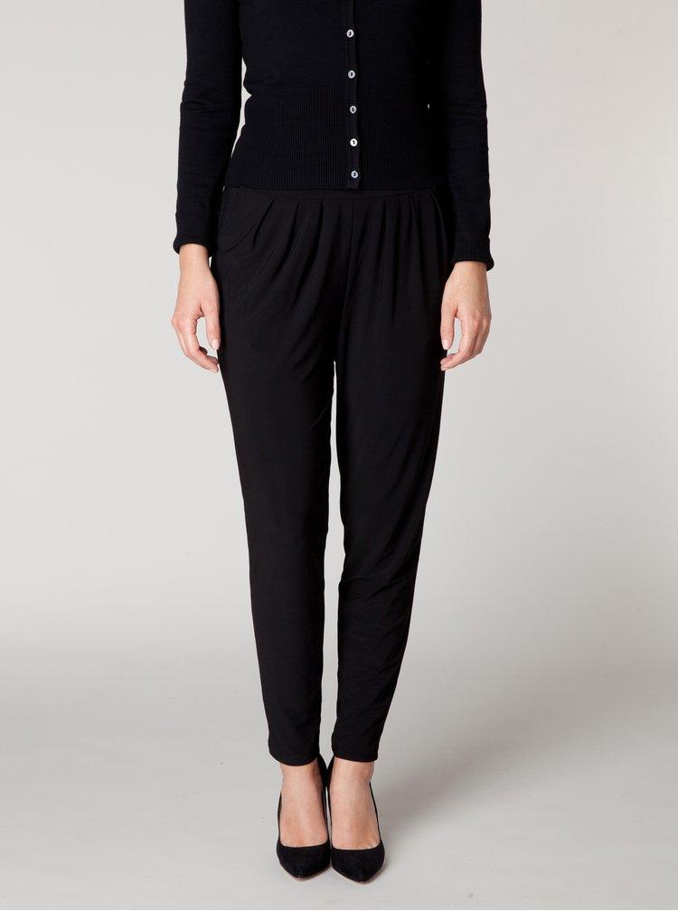 Černé volné kalhoty Yest