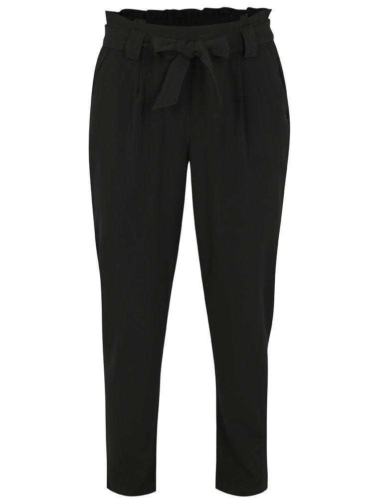 Černé kalhoty s vysokým pasem Jacqueline de Yong Dakota