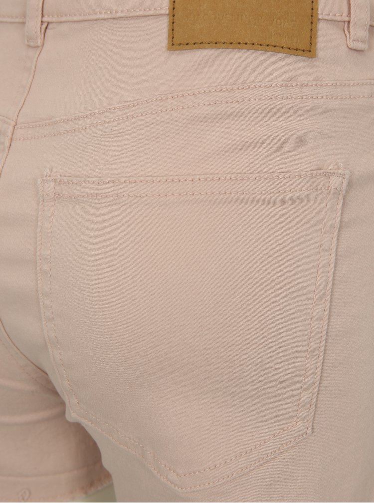 Světle růžové džínové kraťasy Jacqueline de Yong Cate