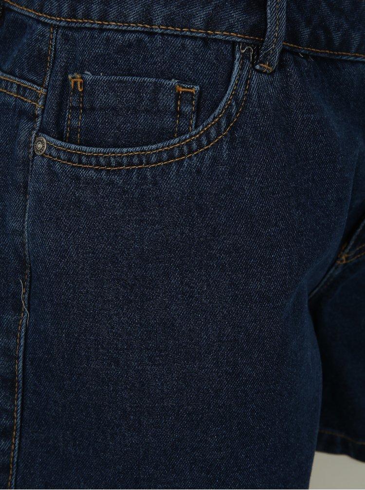 Tmavě modré džínové kraťasy s nízkým pasem ONLY Carmen