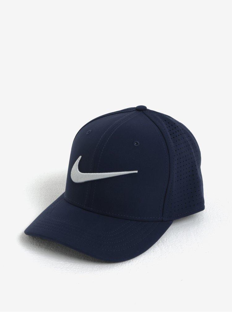 Tmavě modrá unisex funkční kšiltovka Nike