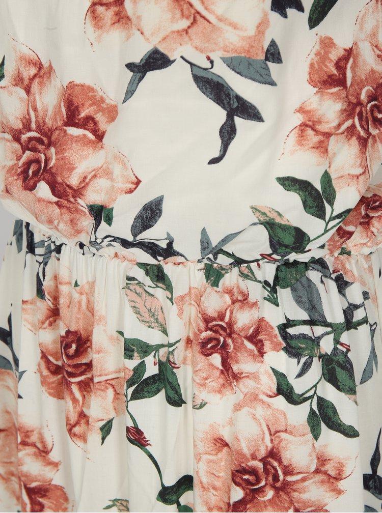 Bílé květované maxišaty na ramínka Haily´s Doris