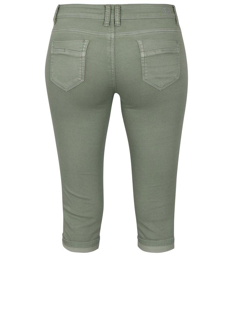 Khaki džínové 3/4 kalhoty Haily´s Jenna