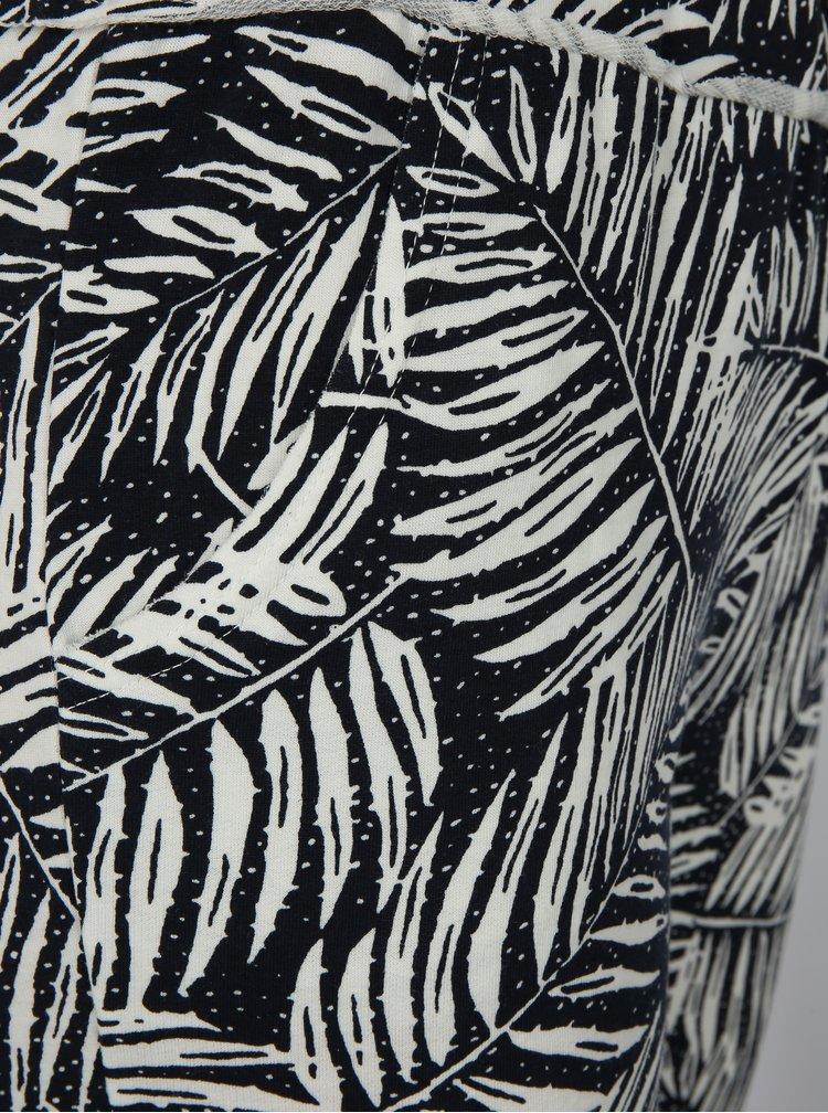 Bílo-černé vzorované volné tepláky Haily´s Jada