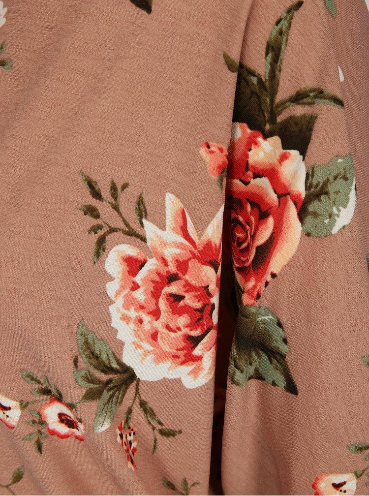 Starorůžový květovaný kardigan Haily's Dana