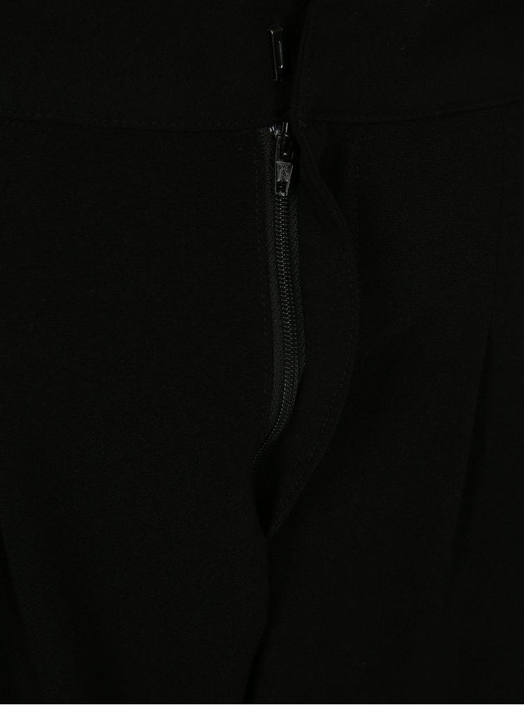 Černé kalhoty s kapsami a vysokým sedem Jacqueline de Yong Bax