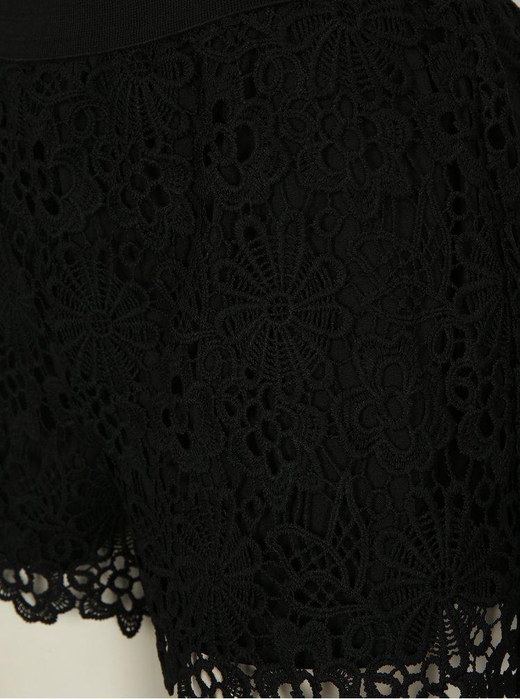 Černé krajkové kraťasy ONLY Kim