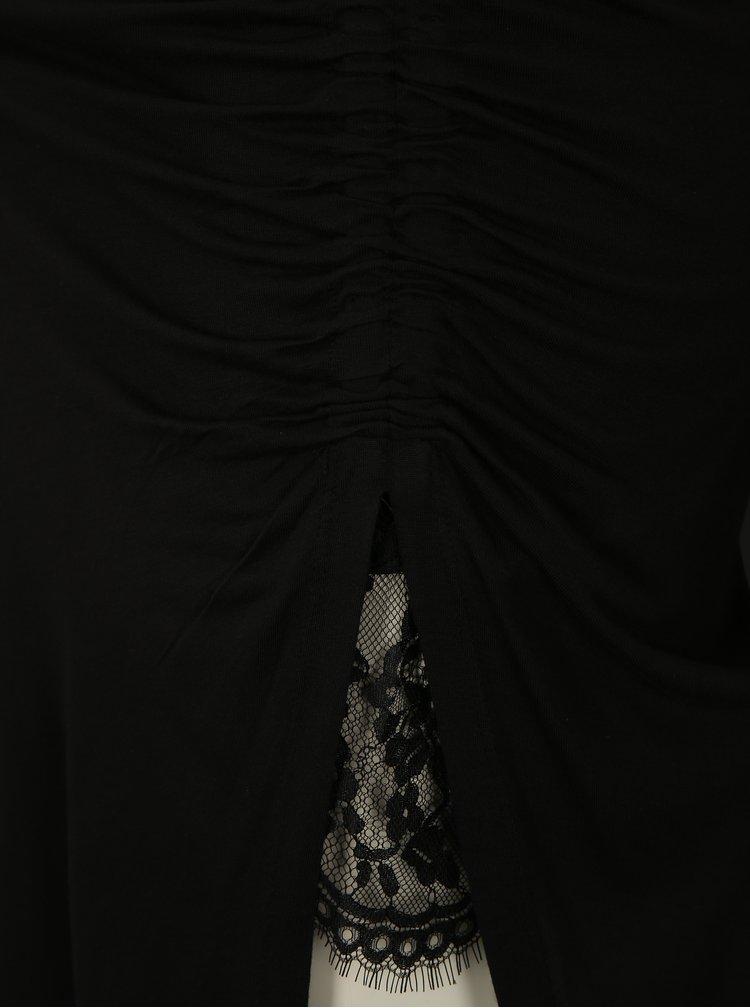 Čierna asymetrická maxisukňa s rozparkom ONLY Ria