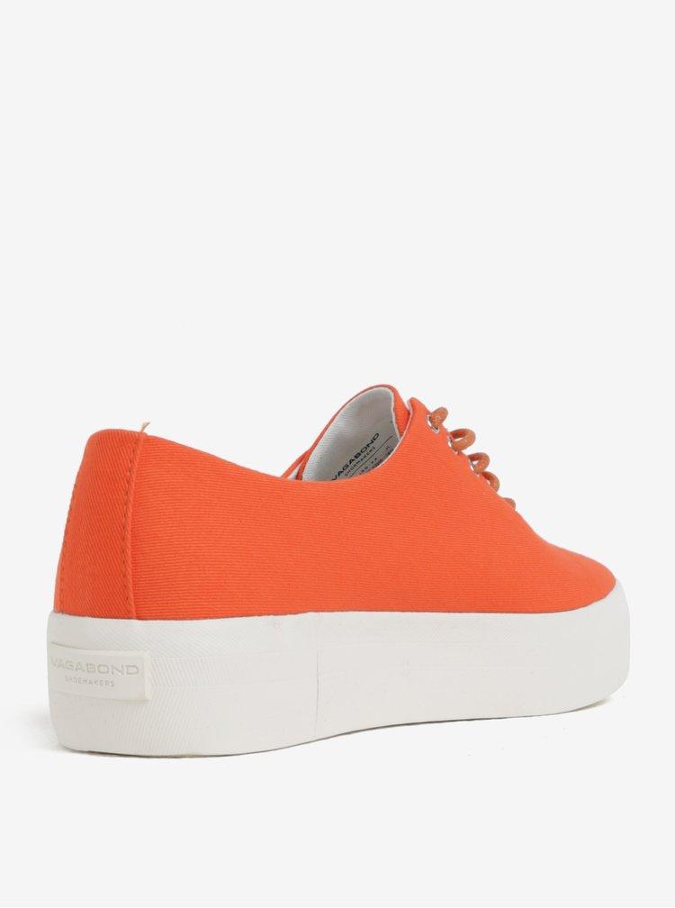 Oranžové dámské plátěné tenisky na platformě Vagabond Peggy