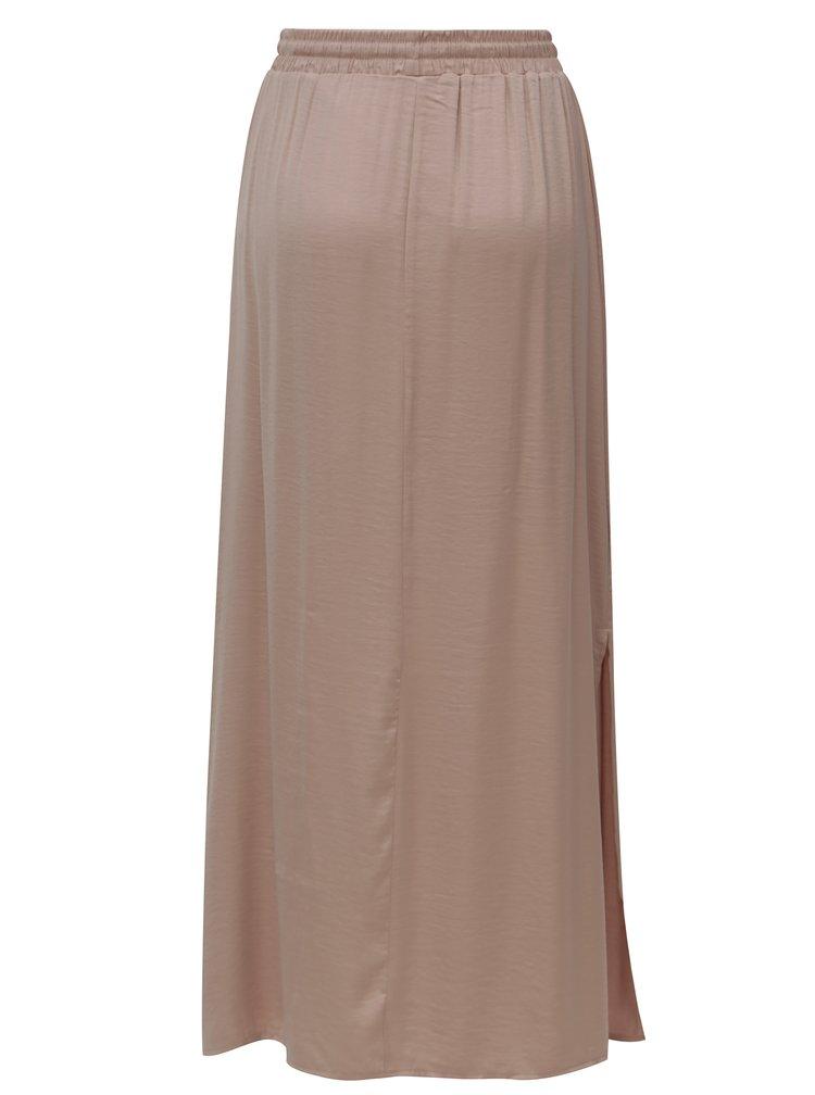 Starorůžová maxi sukně s rozparky VILA Cava