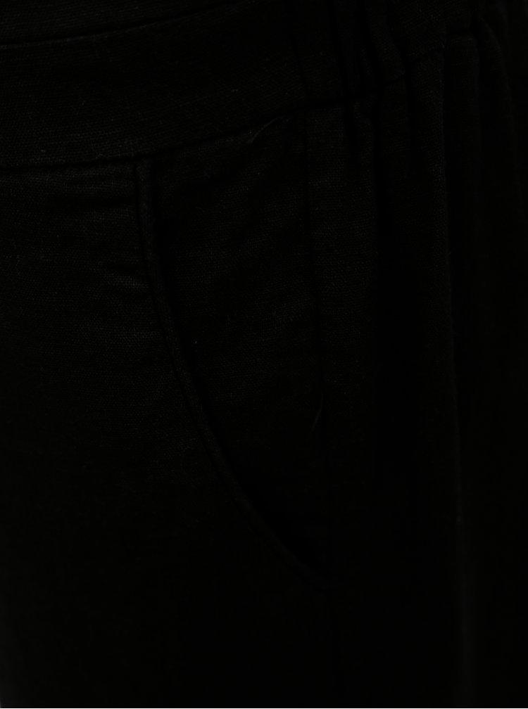 Černý overal s průstřihem na zádech VILA Milas