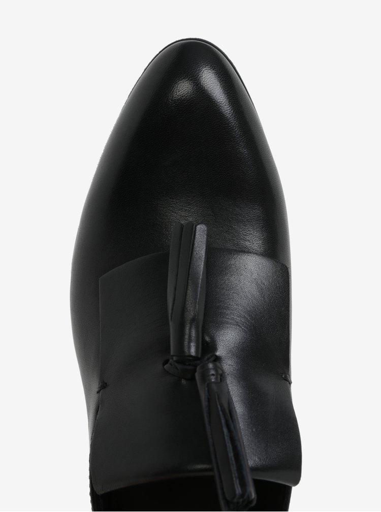 Černé dámské kožené mokasíny Vagabond Frances