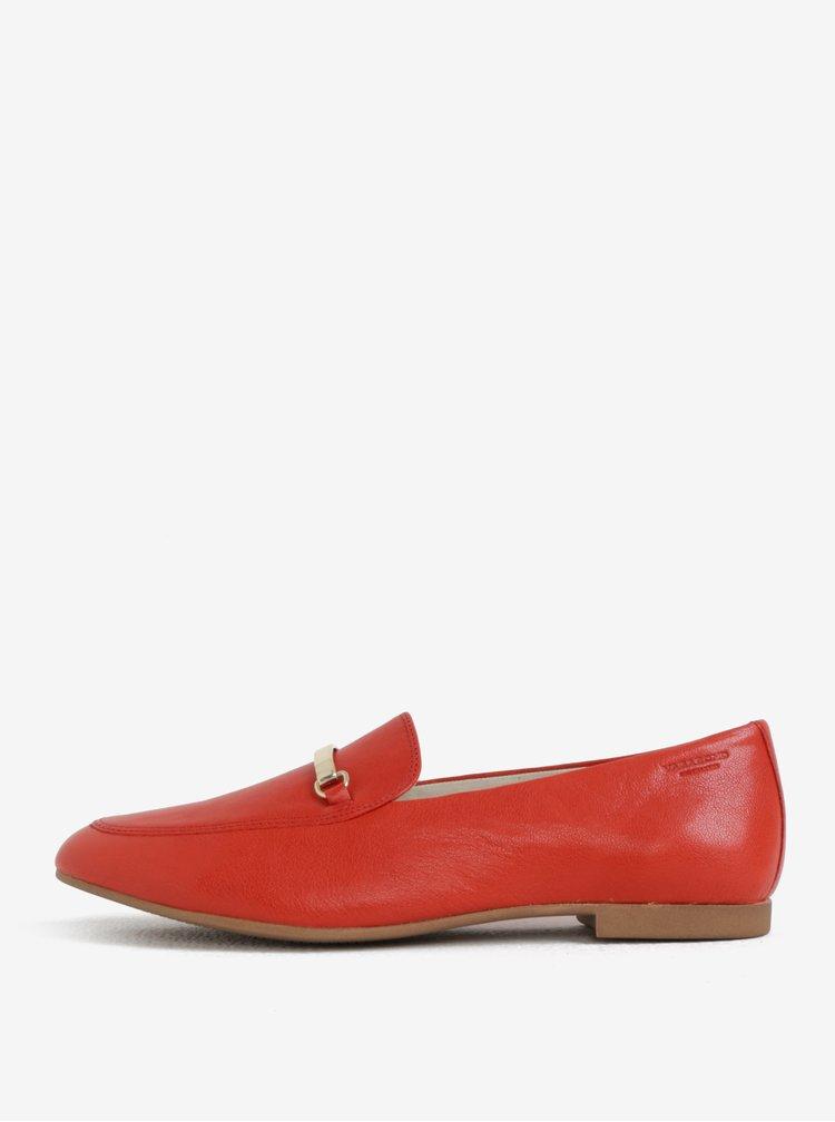 Červené dámské kožené mokasíny Vagabond Eliza