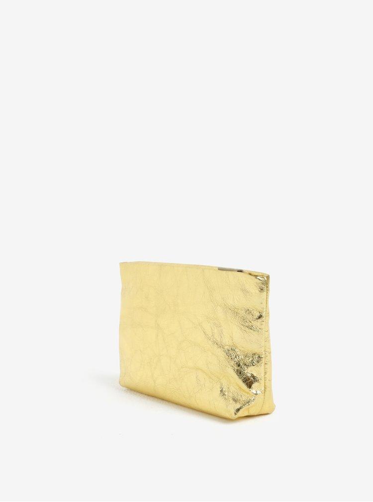 Kožená kosmetická taštička ve zlaté barvě Vagabond Marbella