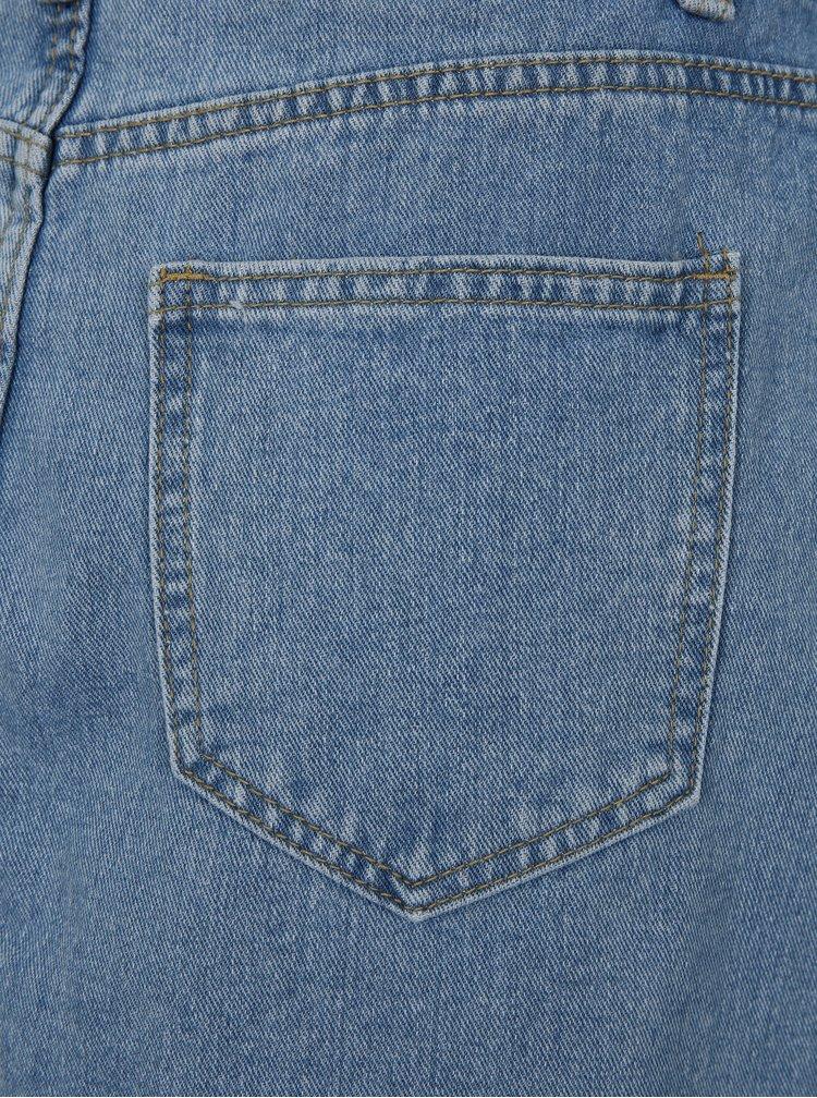 Světle modrá džínová sukně s roztřepenými lemy VILA Jules
