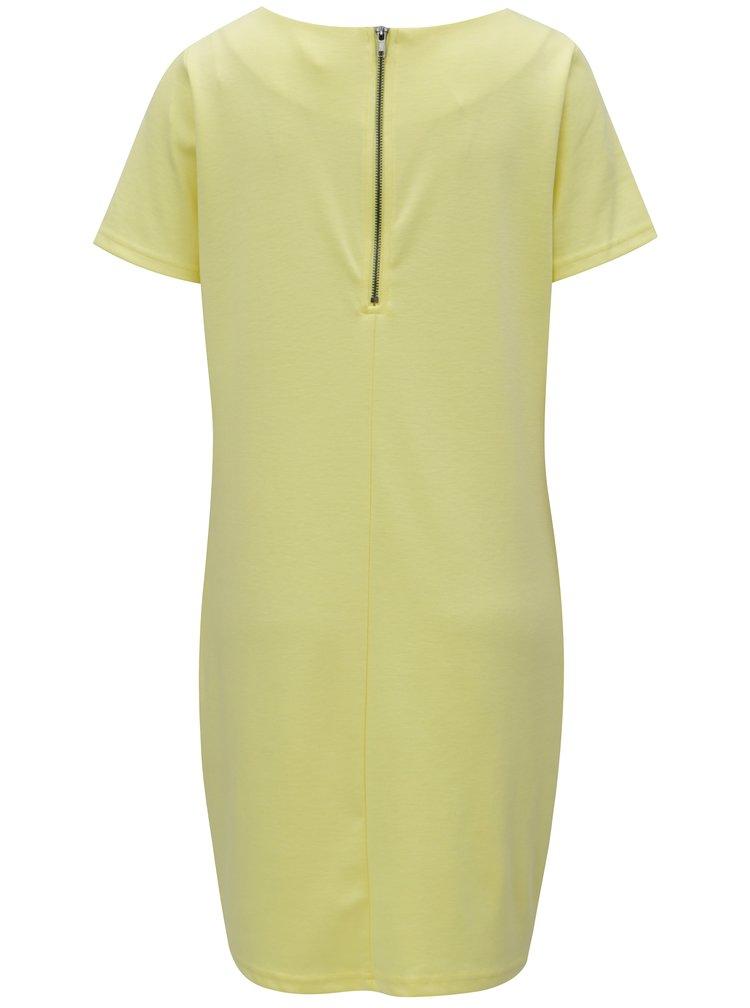 Světle žluté šaty s krátkým rukávem VILA Tinny