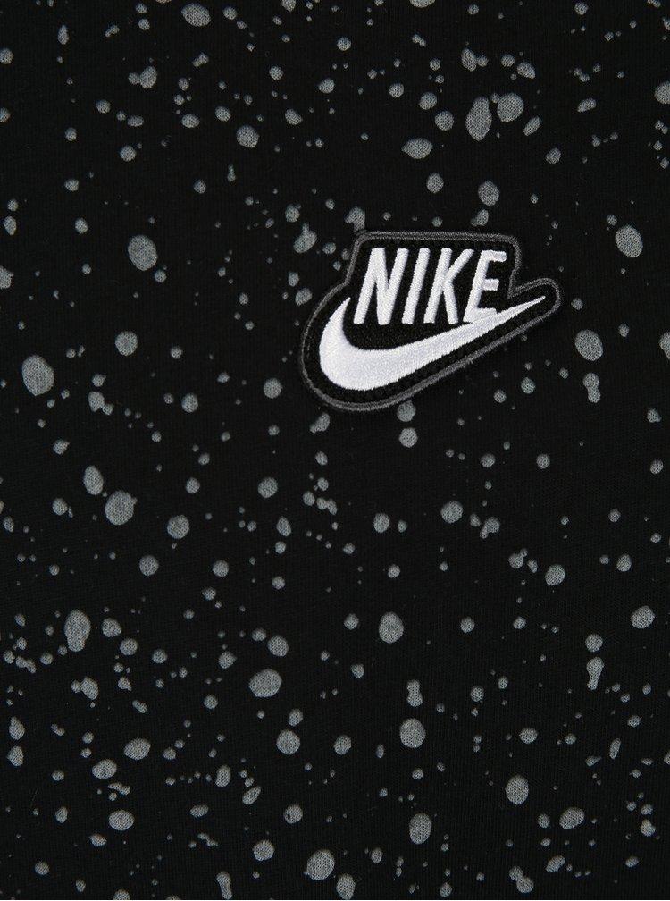 Šedo-černé pánské vzorované tričko Nike Table 3