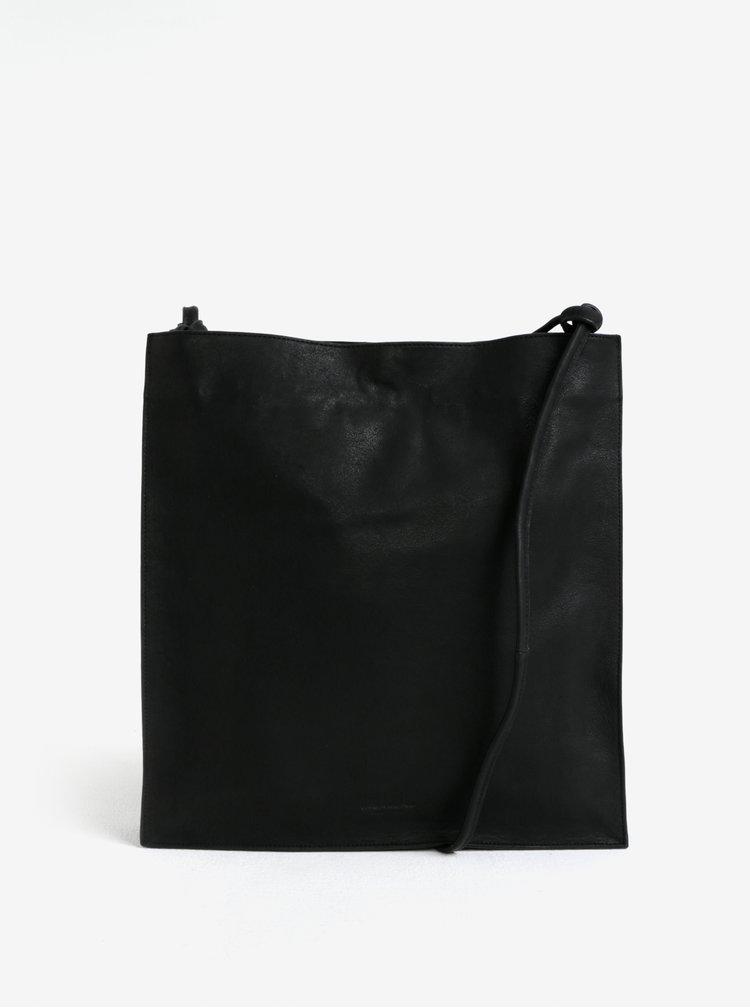 Černá kožená kabelka Vagabond Firenze
