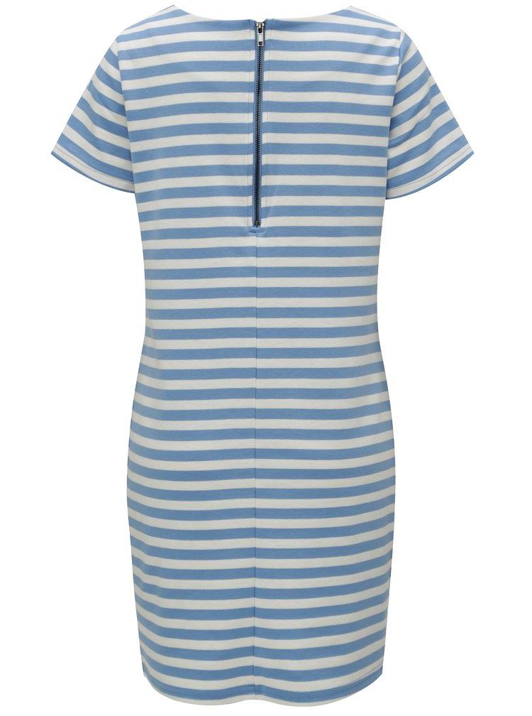 Světle modré pruhované šaty s krátkým rukávem VILA Tinny