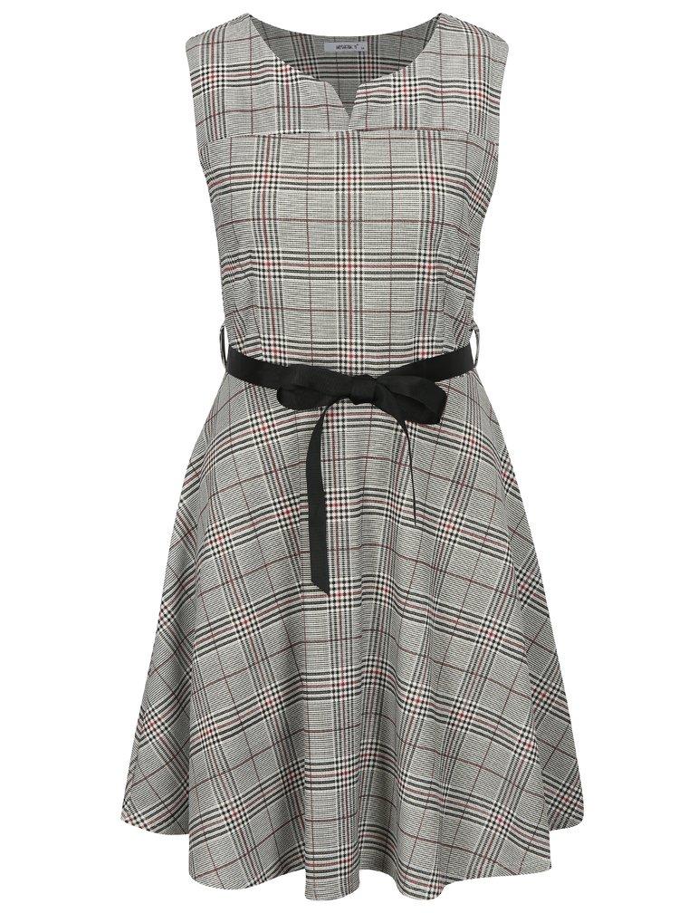 Šedé kostkované šaty Haily´s Charlotte