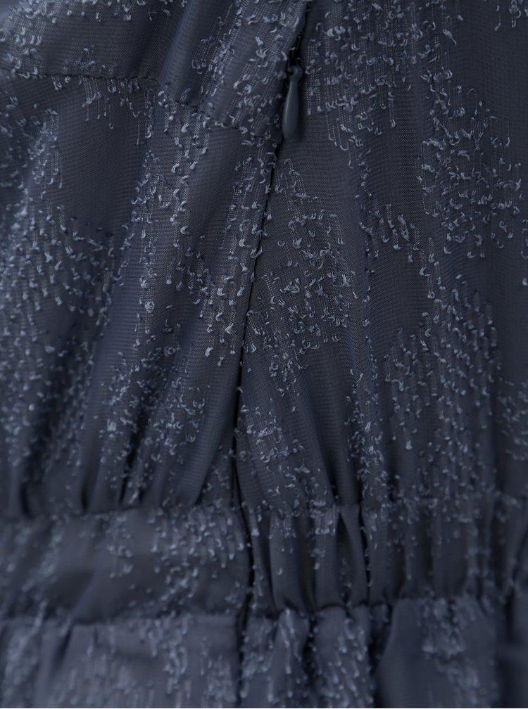 Tmavě šedé šaty  s průstřihem na zádech VILA Alpa