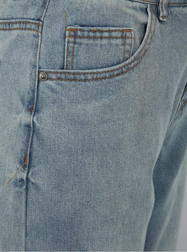Modré zkrácené mom džíny Noisy May Paige