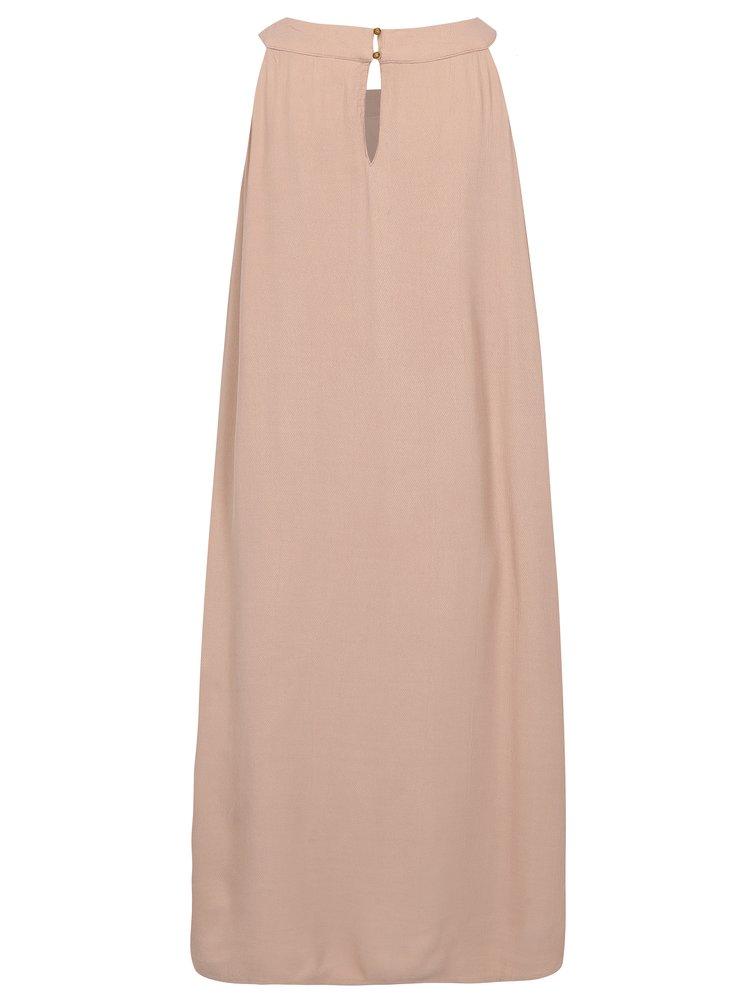 Starorůžové šaty s ozdobnými korálky VILA Asha