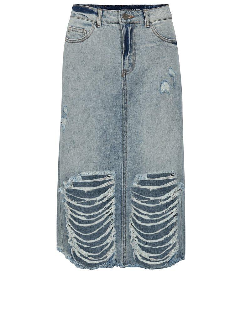 Modrá rifľová sukňa Noisy May Paige