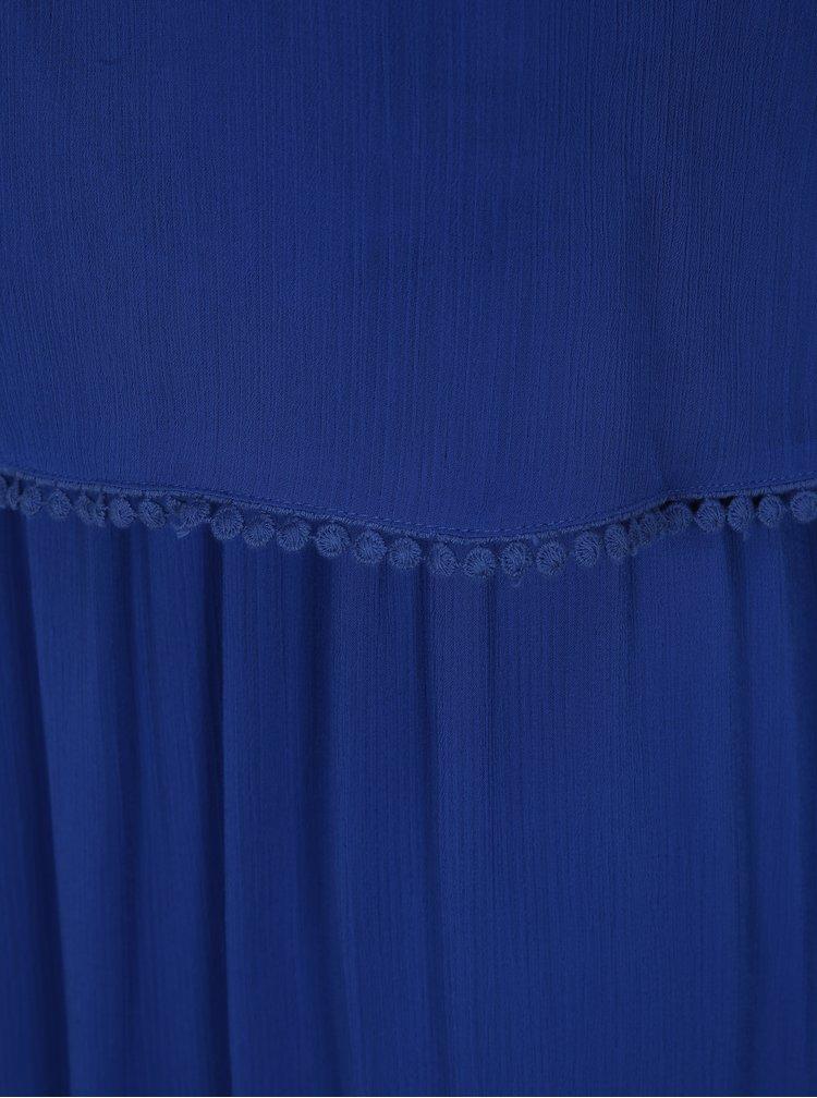Modré šaty s bambulemi ONLY Zoe